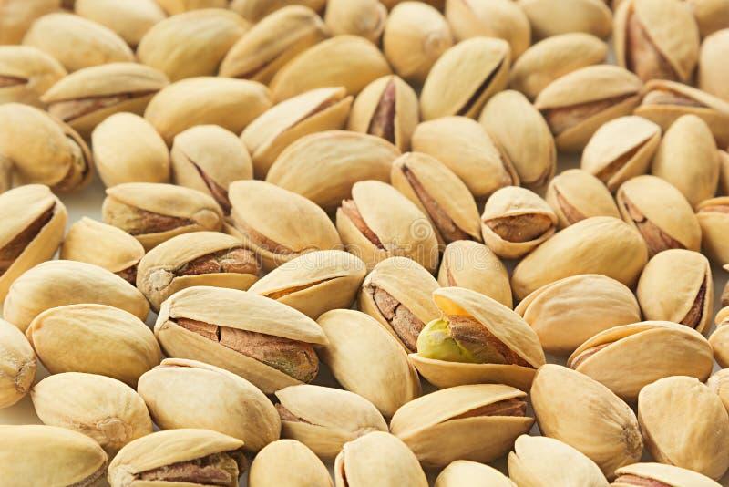Les pistaches sur le fond blanc images libres de droits