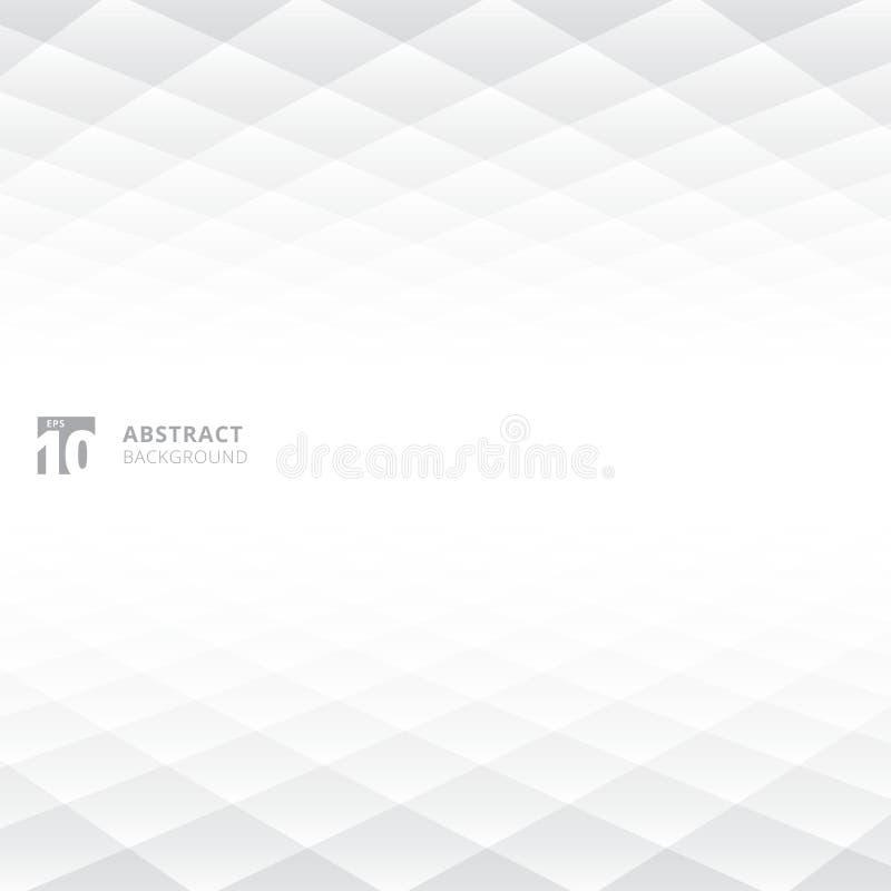 Les places abstraites modèlent le perspect blanc et gris géométrique de couleur illustration de vecteur
