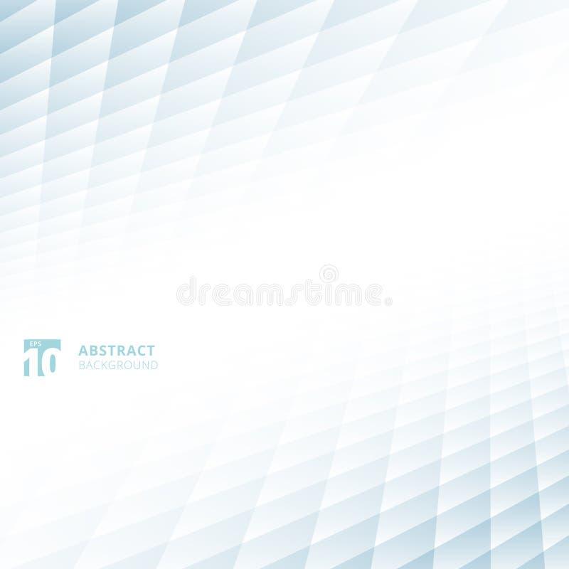 Les places abstraites modèlent le perspect bleu et blanc géométrique de couleur illustration de vecteur