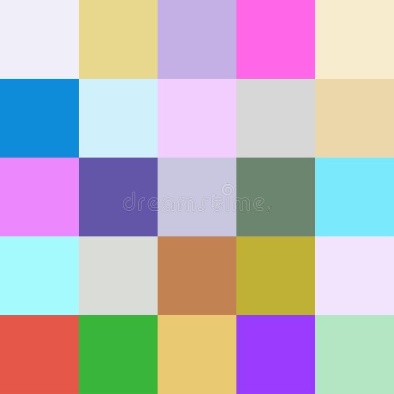 Les places colorées colore le fond, lumineux en pastel doux de bloc illustration libre de droits