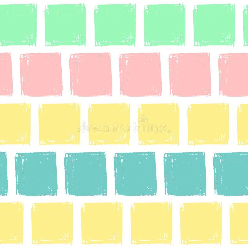Les places d'aspiration de main modèlent des enfants bleus, rose, en bon état, jaune Texture sans fin de crayon de fond de vecteu illustration libre de droits
