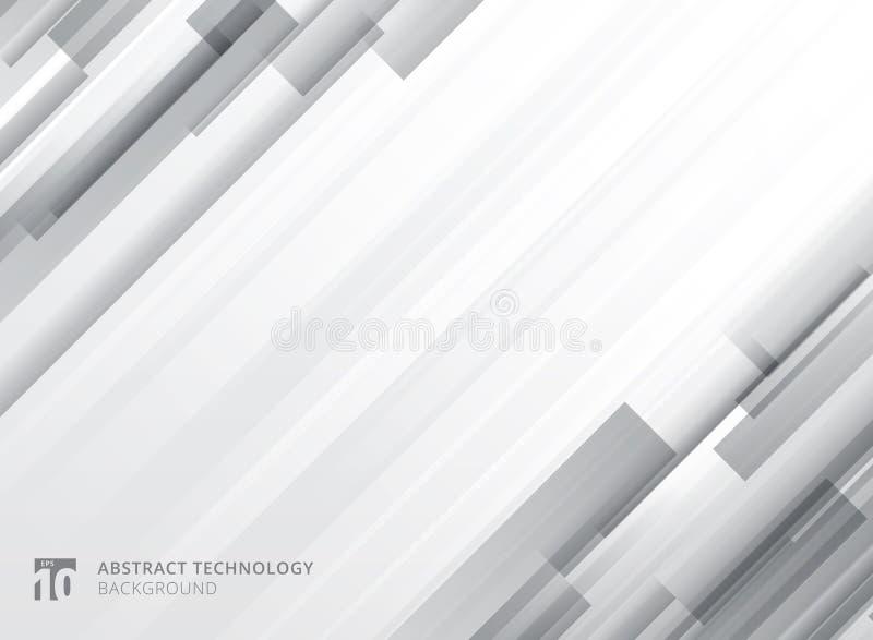 Les places géométriques de chevauchement vertical abstrait de technologie forment le gra illustration de vecteur