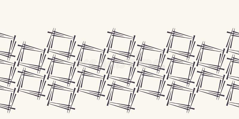 Les places géométriques donnent à la frontière une consistance rugueuse de forme Répétition du fond rayé abstrait Équilibre extér illustration libre de droits