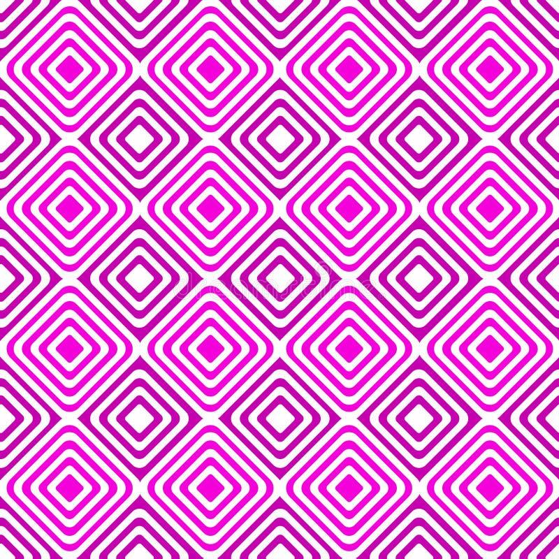 Les places géométriques roses dizzy le modèle sans couture illustration libre de droits