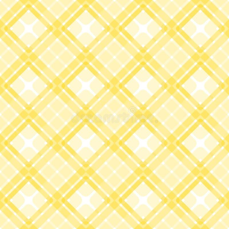 Les places jaunes pique-niquent modèle sans couture illustration stock
