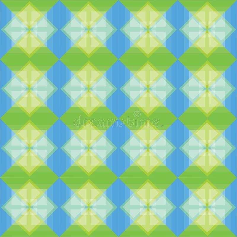 Les places modèlent le fond bleu et vert illustration libre de droits