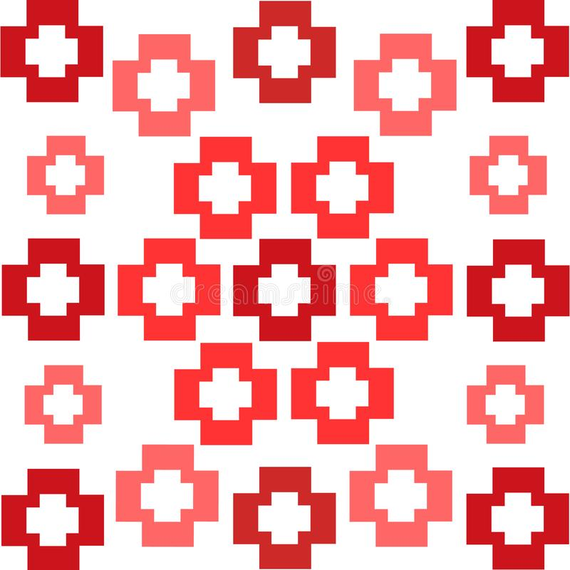 Les places rouges croise le fond symétrique d'abrégé sur modèle illustration de vecteur