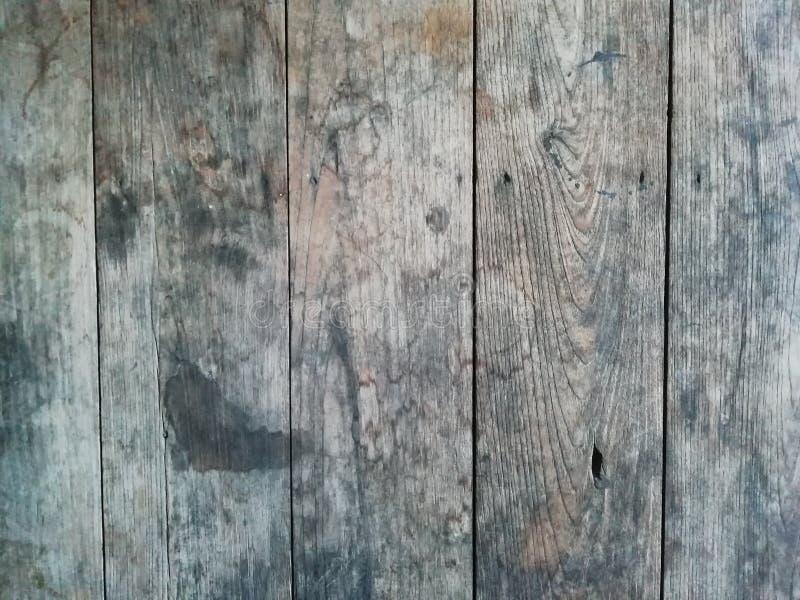 Les planches du bois rustique avec le brun fonc? modifie la tonalit? illustration stock