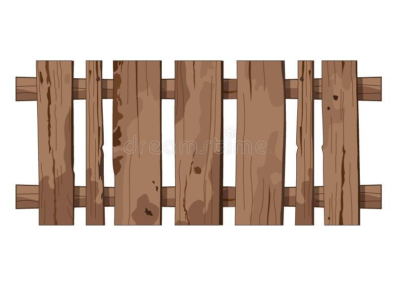 Les planches verticales lumineuses de barrière de texture de texture de floc de mur brun clair en bois de fond embarquent illustration stock