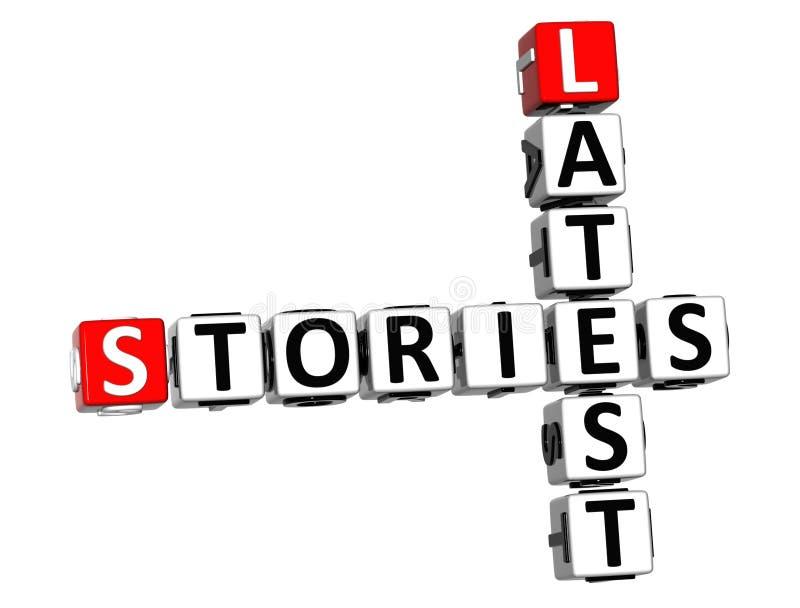 les plus défunts mots croisé des histoires 3D sur le fond blanc illustration libre de droits