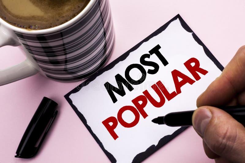 Les plus populaires d'écriture des textes d'écriture Produit de best-seller d'estimation de dessus de signification de concept ou photos stock