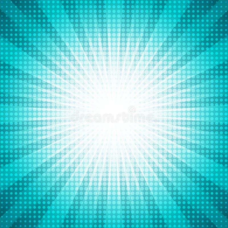 Les points blancs tramés avec l'étoile abstraite verte ont éclaté le concept abstrait de fond illustration stock