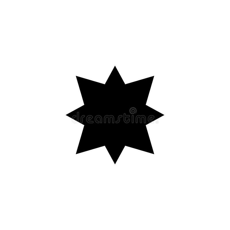 Les points cardinaux sur des vents tiennent le premier rôle le signe de vecteur d'icône de symbole et le symbole d'isolement sur  illustration libre de droits
