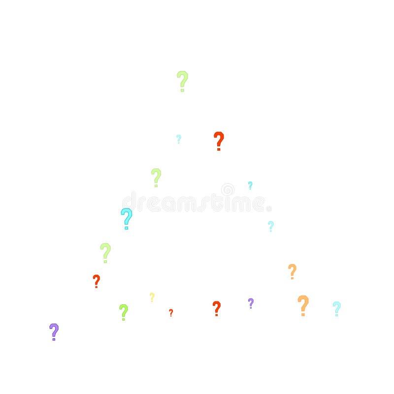 Les points d'interrogation questionnent le scrutin public de FAQ d'enqu?te de doute illustration stock