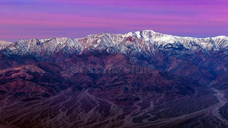 Les points de rep?re et la merveille g?ologique du parc national de Death Valley images libres de droits