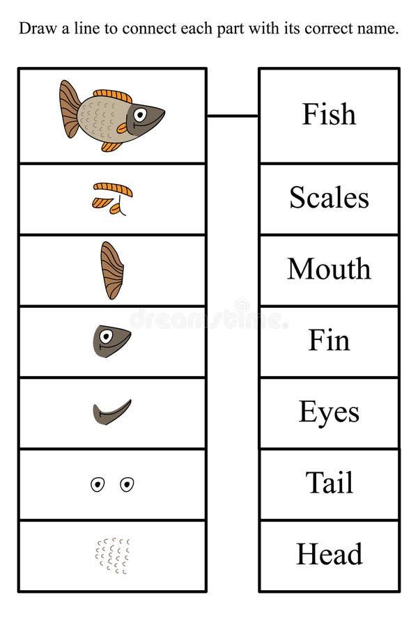 Les poissons connaissent le jeu illustration libre de droits