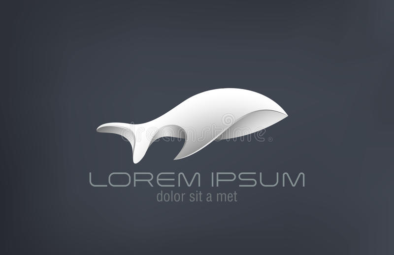 Les poissons de luxe en métal de bijoux de logo soustraient le DES de vecteur illustration de vecteur