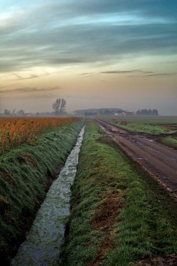 Les Polders de Flemisch photos stock
