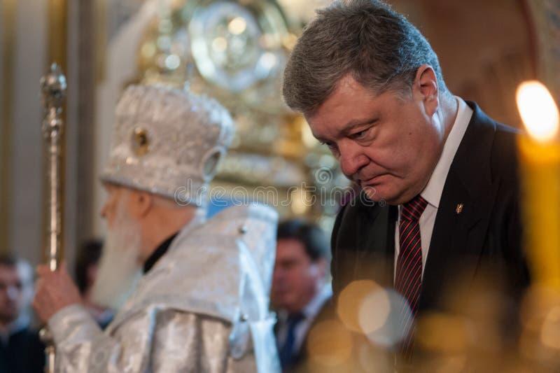 Les politiciens ukrainiens honorent la mémoire des activistes tués d'EuroMaidan images stock