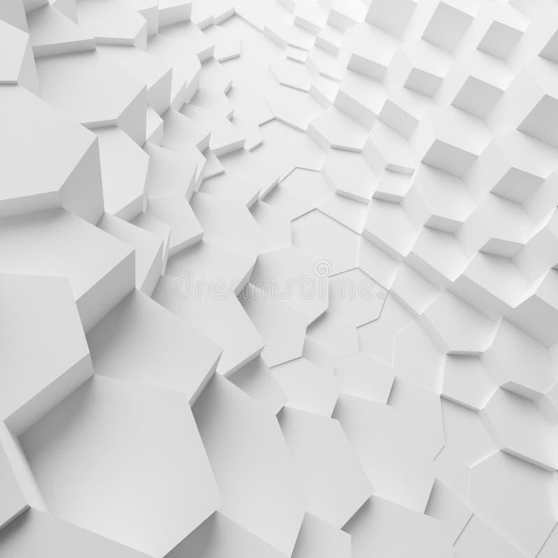 Les polygones géométriques d'abrégé sur couleur ont expulsé des cellules wallpaper, comme mur de fente photos stock