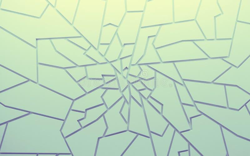 Les polygones géométriques d'abrégé sur couleur wallpaper, comme mur de fente photos libres de droits