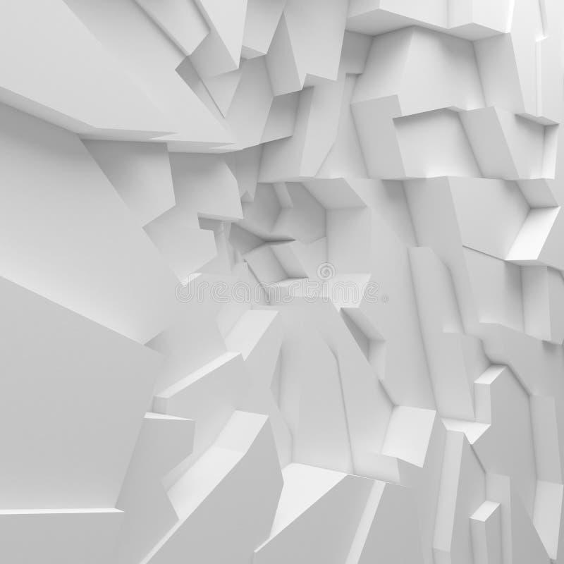 Les polygones géométriques d'abrégé sur couleur wallpaper, comme mur de fente illustration libre de droits