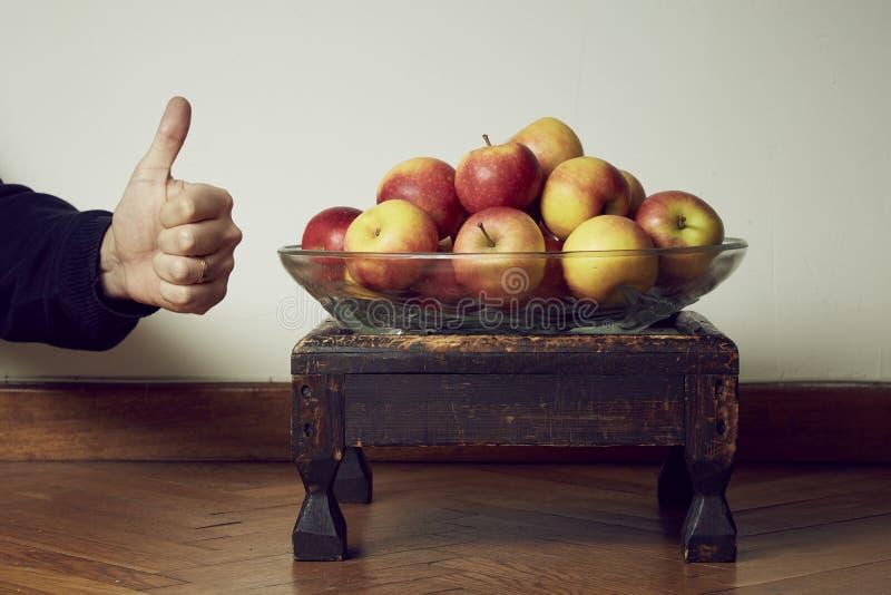 Les pommes manient maladroitement  photographie stock libre de droits