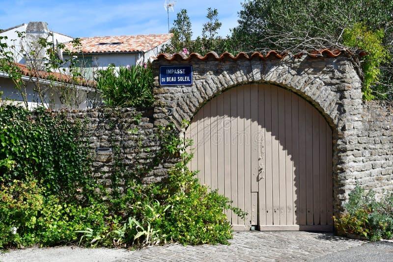 Les Portes en Re, France - september 26 2016 : picturesque villa stock image