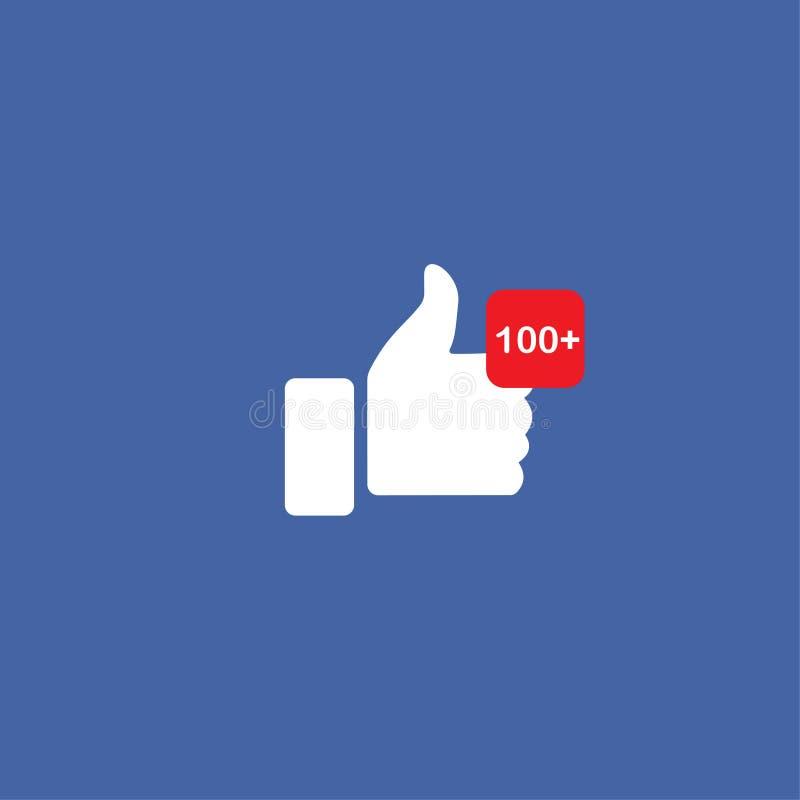 Les pouces courants de vecteur aiment l'icône sociale de media illustration libre de droits