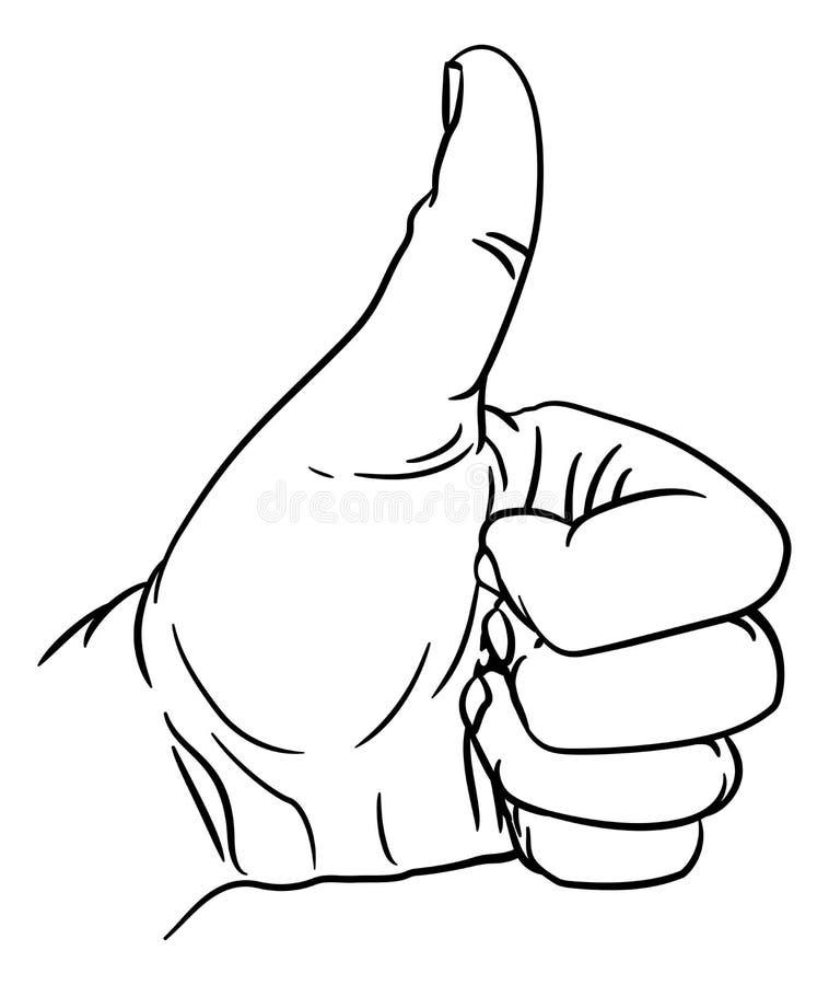 Les pouces de main font des gestes le pouce hors des doigts dans le poing illustration libre de droits