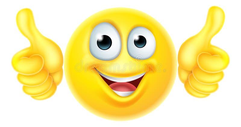 Les pouces lèvent l'emoji d'émoticône illustration libre de droits