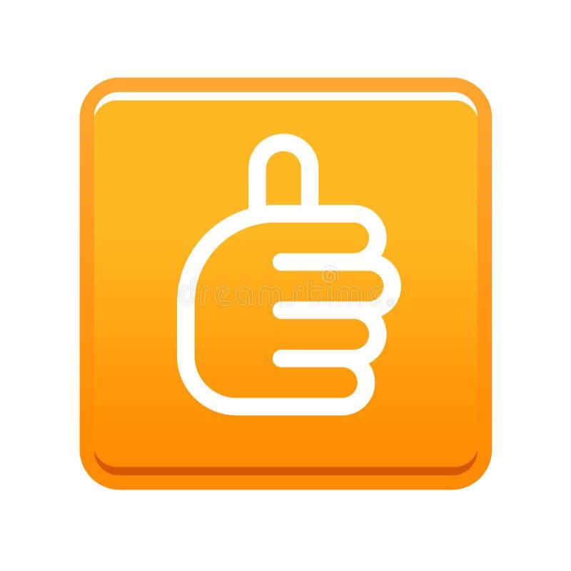 Les pouces lèvent l'orange de signe illustration stock