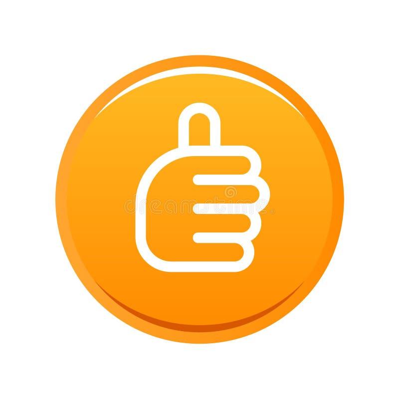 Les pouces lèvent l'orange de signe illustration de vecteur