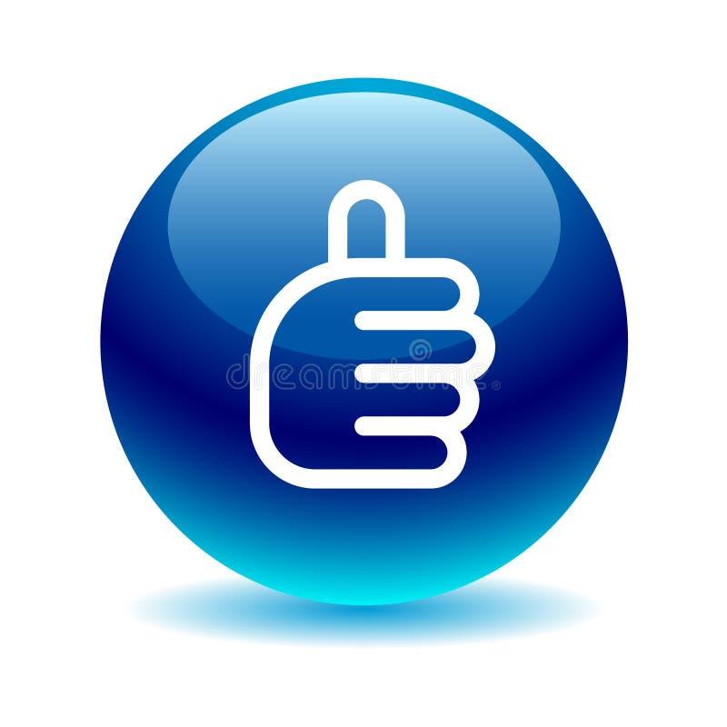 Les pouces lèvent le bleu de signe illustration libre de droits