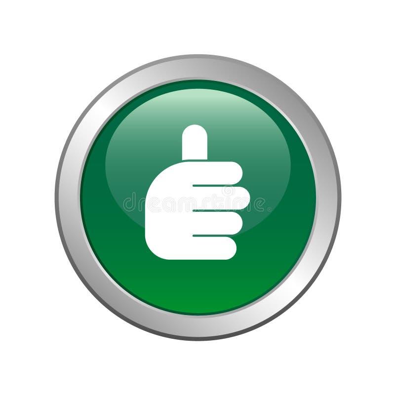 Les pouces lèvent le vert de signe illustration de vecteur