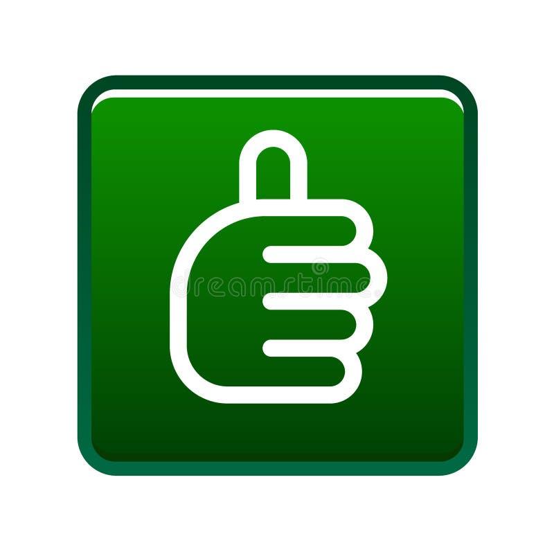 Les pouces lèvent le vert de signe illustration libre de droits