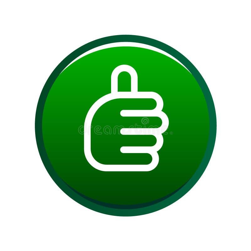 Les pouces lèvent le vert de signe illustration stock