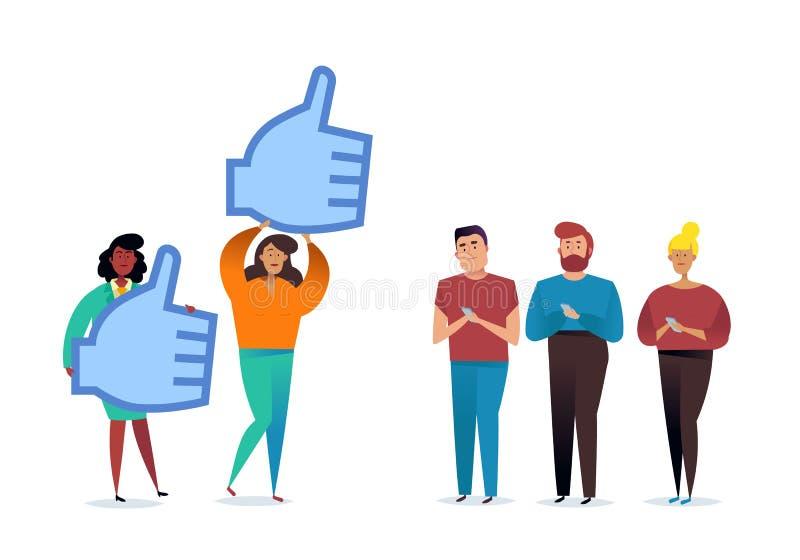 Les pouces l?vent le signe Go?ts et concept de r?action positive Goûts sociaux de réseau, approbation photos libres de droits