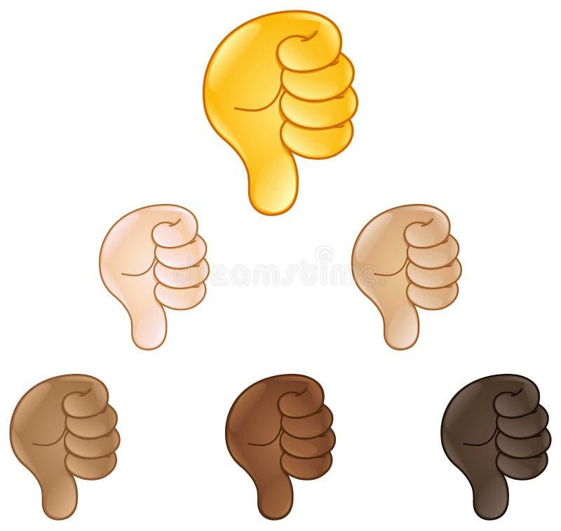Les pouces remettent vers le bas l'emoji de signe illustration libre de droits