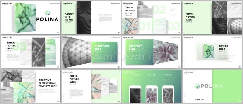 Les présentations minimales conçoivent, des calibres de vecteur de portfolio avec des éléments sur le fond blanc Calibre universe illustration libre de droits
