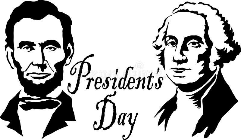 Les Présidents Washington/Lincoln illustration de vecteur