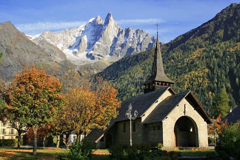 Les Praz De Chamonix lizenzfreies stockbild