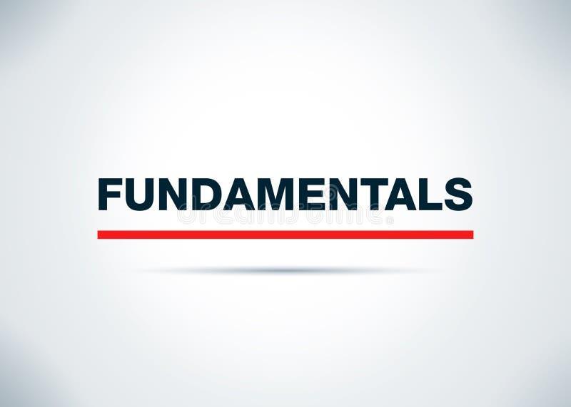 Les principes fondamentaux soustraient l'illustration plate de conception de fond illustration libre de droits