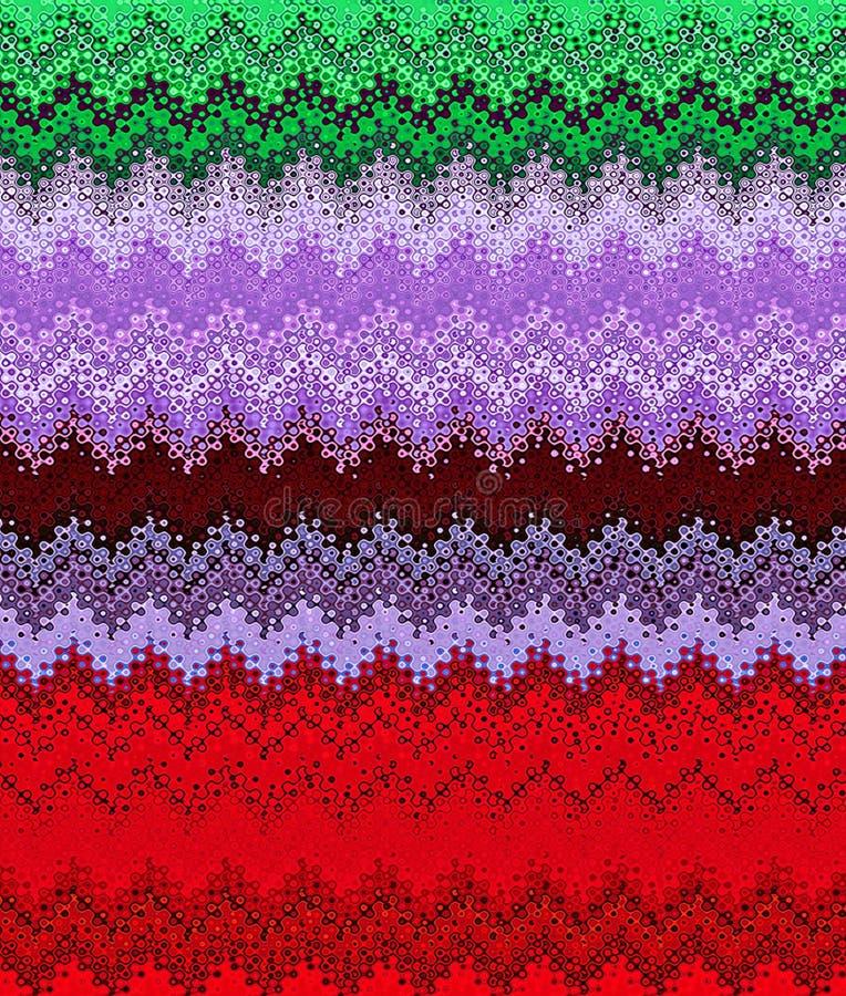 Les profils onduleux d'abrégé sur peinture de Digital dans différentes nuances de Noël colore le fond illustration de vecteur
