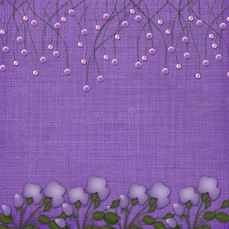 les programmes abstraits de fond ont suspendu la violette illustration libre de droits