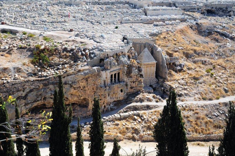 Les prophètes se vengent le tombeau de Zechariah images libres de droits