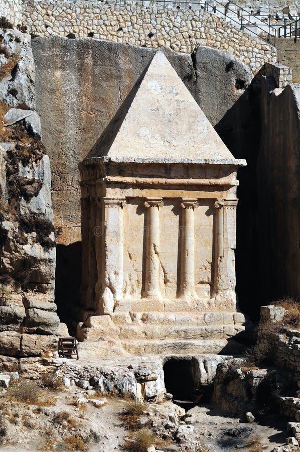 Les prophètes se vengent le tombeau de Zechariah image stock