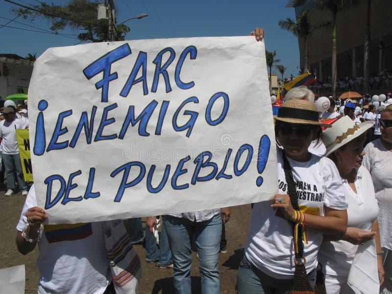 Les protestations de Barranquilla images libres de droits