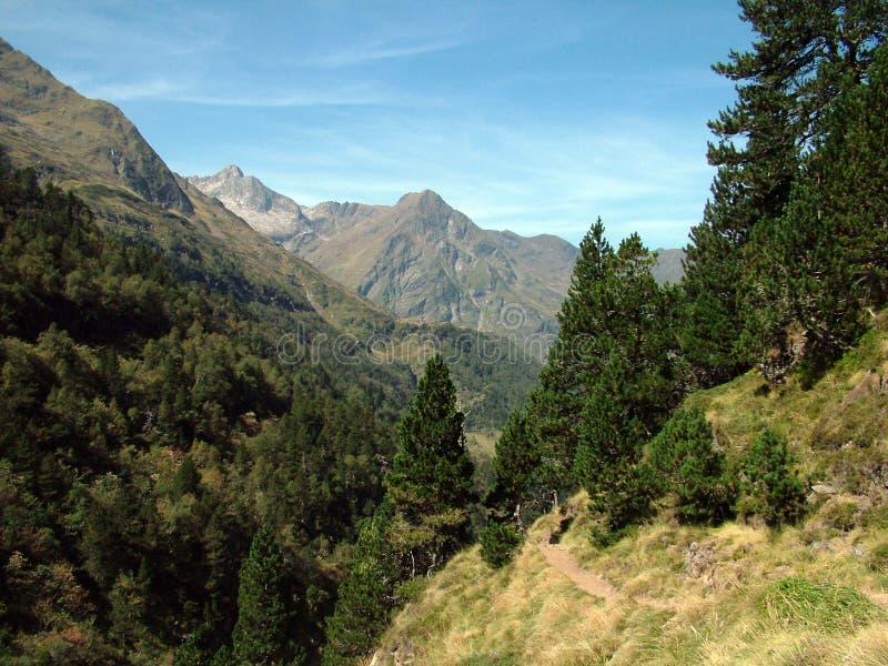 Les Pyrénées en France image libre de droits