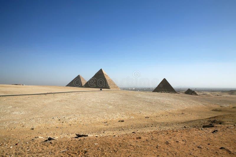 Les pyramides en Egypte. images libres de droits